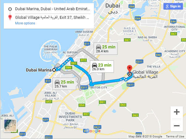 Global Village Map | Hometown Dubai Travel Blog on
